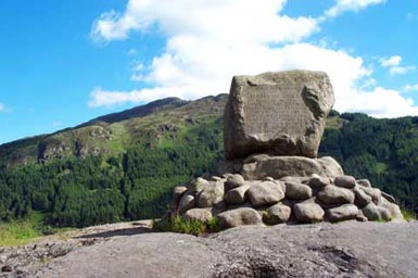 Bruce's Stone beside Loch Trool