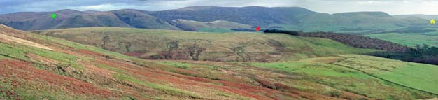 Panorama of the Lowther Hills from Coshogle Rig