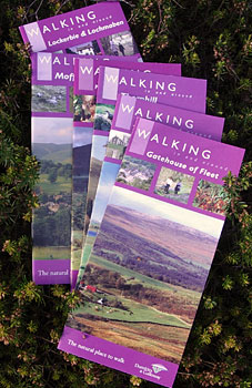 Leaflets from the local towns giving walks in their area